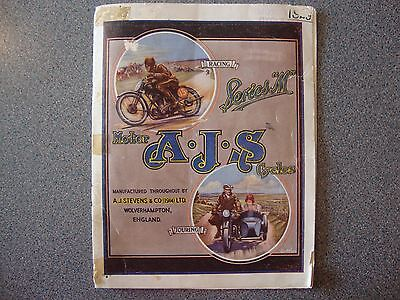 A.j.s  Motor Cycle Sales Brochure 1929 24 Pages.
