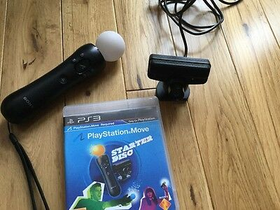 PS3 Move Motion Sensor Controller, Eye Camera and Starter Disc