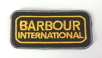 Barbour International Patch Iron-On Gold Embroidered Badge Applique Toppa Parche