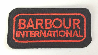 Barbour International Patch Iron-On Red Embroidered Badge Applique Toppa Parche