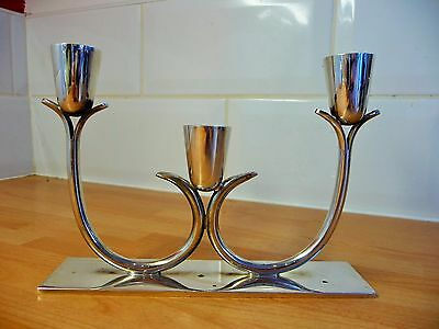 Oneida Silver Plated Candleabra Three Candlestick Candle Holder 8923