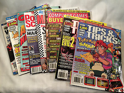 Lot of 8 Video Game Magazines, Tips & Tricks, Computer Gaming World & More, USED