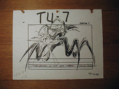 ST prop : Production used Starship Troopers storyboard from Phil Tippett