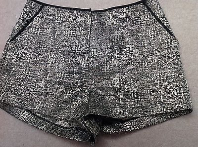 ladies Topshop metallic shorts size 8