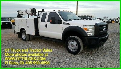 2011 Ford F-450 Extended Cab 3200lb Crane Mechanics Utility Service Bed 6.8L Gas