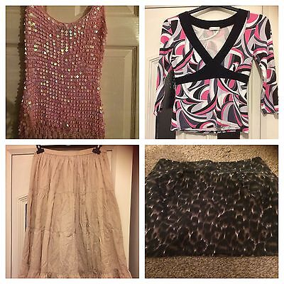 Ladies Clothes Bundle Size 10  2 Skirts And 2 Tops F&F Plus Others