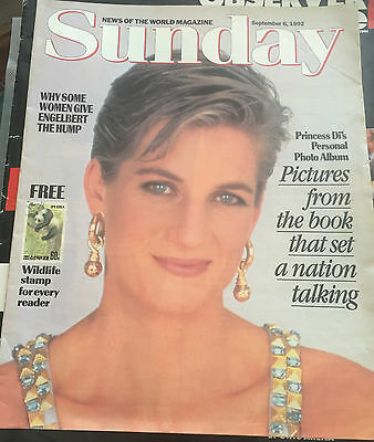 Princess Diana News Of The World Magazines Uk Only Photos 1992 1 Day Only Availa