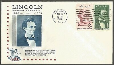 Us Cover 1959 Lincoln Sesquicentennial 1C&3C Nominated For President May 18
