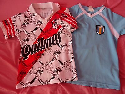 Kids Childrens Girls Boys Football Argentina - River Plate T-Shirts age 4 5 Used