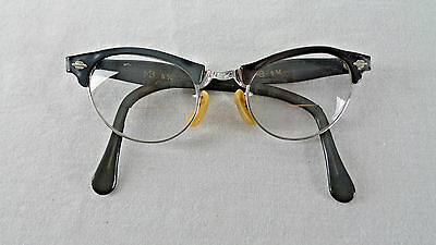 Vintage 1950's Art-Craft Cat Eye Eyeglass Frames 1/10 12K Gold Filled Gray