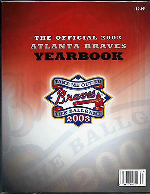 Atlanta Braves 2003 Official Illustrated Yearbook Magazine Near Mint / Mint Cond