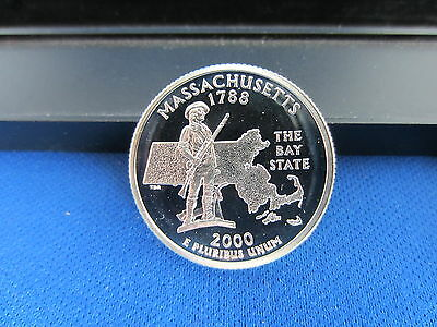 2000-S SILVER Quarter MASSACHUSETTS Deep Cameo Mirror Proof Upper Grading Ranges
