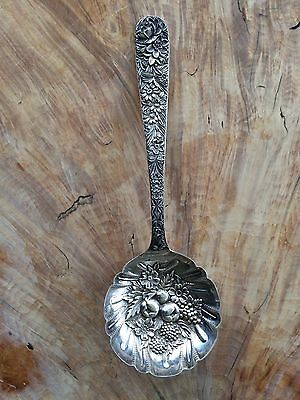 "Fabulous Sterling Silver S. Kirk & Son ""Repousse"" Large Berry/Serving Spoon"