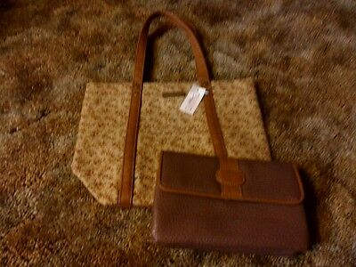Longaberger Homestead Small Fabric Tote Bag and Wallet