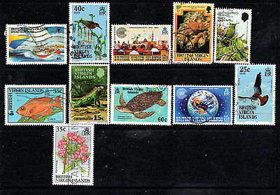 British Virgin Isles collection of used stamps
