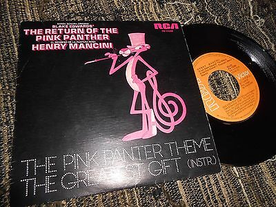 """THE PINK PANTHER BSO OST Theme/The greatest gift 7"""" 1975 SPAIN SPANISH edition"""