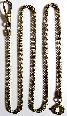 Vintage 1950's New/old Pocket Watch Or Knife Brass Fob Snake Chain
