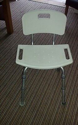Removeable height adjustable shower chair