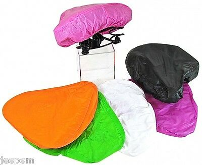 2 x Bike Seat Cover Bicycle Saddle Rain Protectors Replacements Assorted Colours