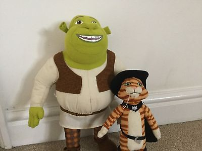 Shrek And Puss In Boots Plushies