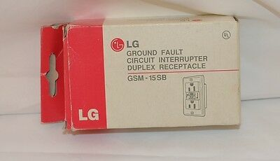 LG Model GSM-15SB Ground Fault Circuit Interrupter Duplex Receptacle Ivory
