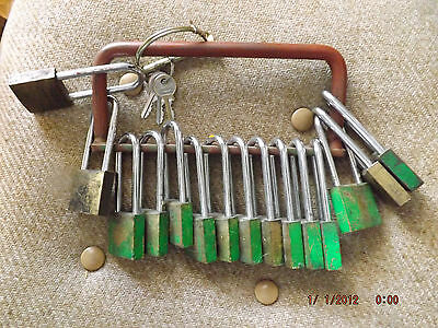 15 Brass Long Guard Locks With 3 Keys And Carry Handle