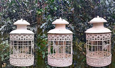 Bird Feeder Seed Nut Fat Ball Metal Butterfly Squirrel Proof Hanging