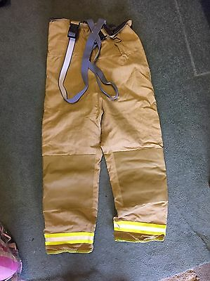 Costly Ballyclare PBI Gold Firefighter Leggings Size 11
