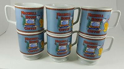 VINTAGE MAXWELL HOUSE Coffee cups (lot of 6)