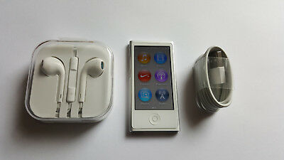 Apple iPod nano 7th Gen Silver(16GB) with Accessories