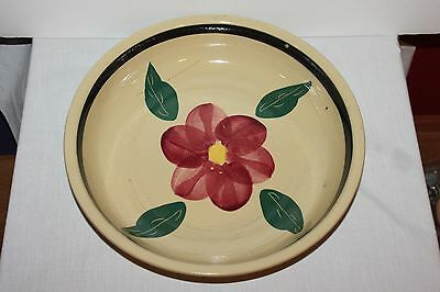 Vintage Large Flower Bowl Marked USA Ovenware EARLY WATT