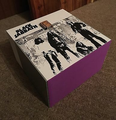 "Black Sabbath - wooden 7"" Record Box/Case 45's holds 30-50 Wide Ozzy Osbourne"