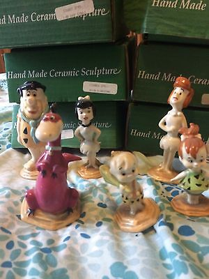 Beswick 6 Flintstone Figurines With Boxes And Certifacate 1996