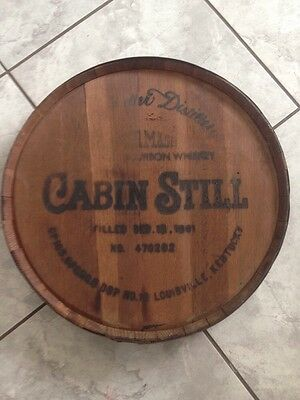 Cabin Still Sour mash Kentucky Bourbon Wooden Whiskey Barrel Lid Stitzel Weller