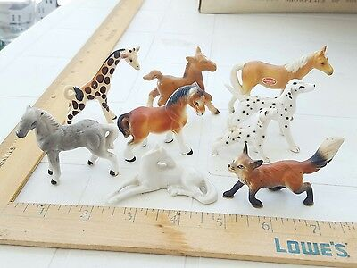 Vintage miniature bone china animals