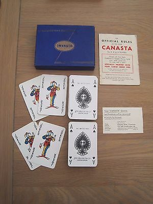 Vintage Waddingtons Canasta Playing Cards Complete