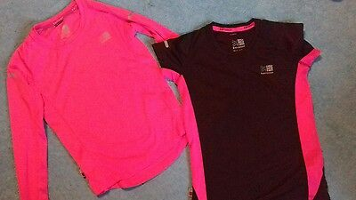 two karrimor running tops age 9-10 years