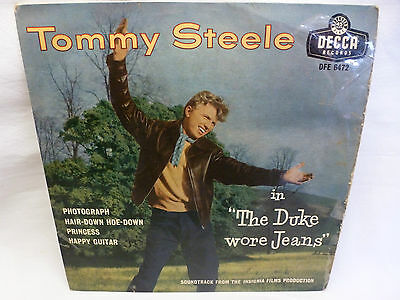 Tommy Steele - The Duke Wore Jeans. Ep Dfe 6472.