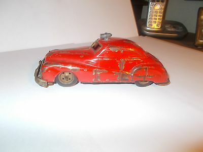 Vintage Gama Friction Drive Tinplate Fire Car