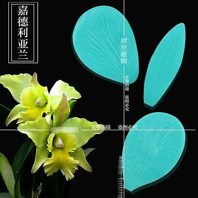 3pcs Orchid Silicone Fondant Mold Cake Decorating Pastry Gum Pastry Tool Kitchen
