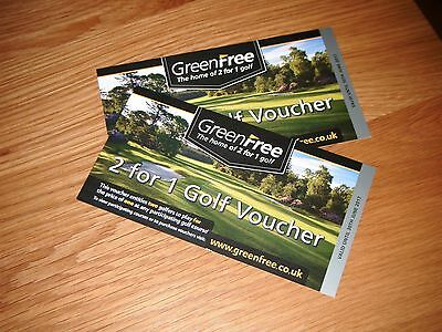 GREENFREE  2 for 1 golf vouchers  valid until 30 june 2017