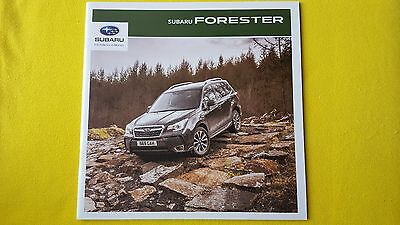 Subaru Forester XE XT XC Premium 2.0 4x4 AWD paper brochure catalogue 2016 MINT