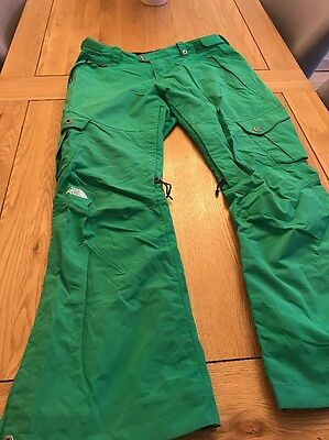 Women's The North Face Ski Snowboarding Trousers Pants Green Size L