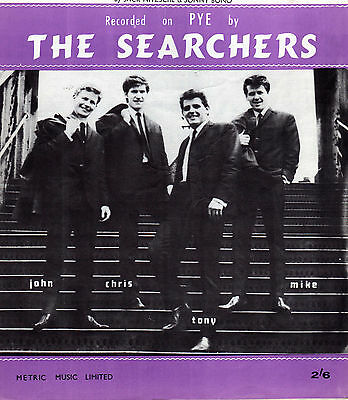 "SHEET MUSIC. "" NEEDLES & PINS "". BY THE SEARCHERS. 1960s POP."