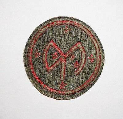 27th Infantry Division Green Back Patch WWII US Army P2739