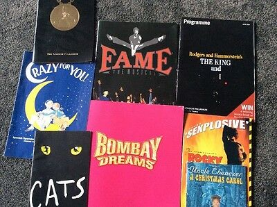 8 West End Show/0ther Souvenir /Programmes Including King And I , Bombay Dreams
