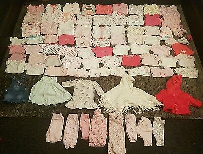 Tiny baby/first size/ newborn girls clothes bundle 85 items