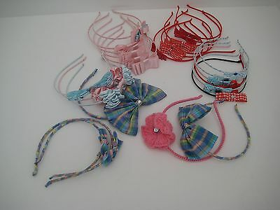 hair accessories alice bands hand made job lot 25 girls