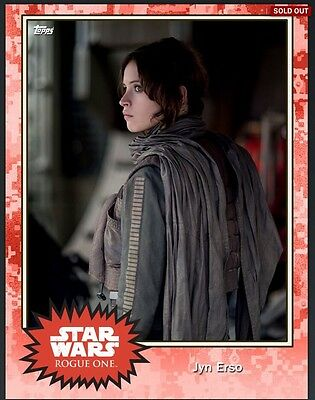 Topps Star Wars Card Trader JYN ERSO Exclusive Red Variant 25 cc Digital