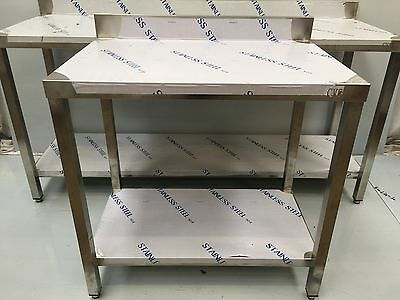 Commercial Kitchen Stainless Steel Catering Work Prep Table 2Ft600x600 Brand New